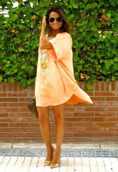 I want a lil dress like this! You could dress it up or down! :) Gota get 1 for summer! & would be cute with leggings & boots in the fall!