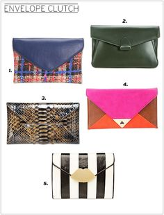 Envelope Cluth: My pic: #4. Urban Outfitters Colorblock Envelope Clutch   via glitterguide