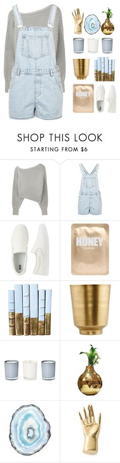 """""""shoutout set rtd ♡"""" by e-xtinct ❤ liked on Polyvore featuring Alexander Wang, Topshop, Uniqlo, Lapcos, Visionnaire and Kelly Wearstler"""