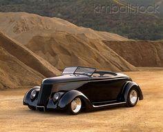 1936 Ford Roadster Black