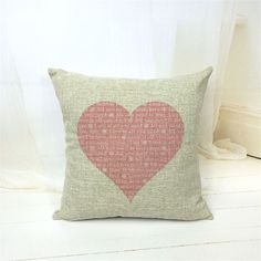 LOVE Print Pillow Cover
