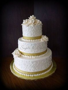 50th anniversary centerpieces | 50th Anniversary Cake | 50th Anniversary Party Ideas by rosalie