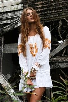 Fleetwood Kaftan -  gold embroidery