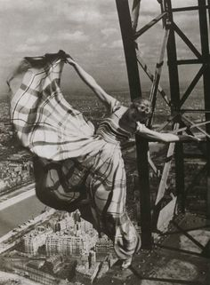 On the Eiffel Tower (1939) by Lewis Hine