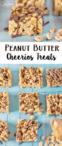 If you love Peanut Butter, you'll love these Peanut Butter and Chocolate Cheerios Treats!