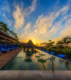 Infinity Pool at Nayara Hotel Spa and Gardens, La Fortuna, Costa Rica