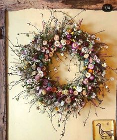 Dried Flower Wreaths, Dried Flowers, Autumn Wreaths, Holiday Wreaths, Colorful Christmas Tree, Christmas Decor, Arte Floral, Xmas Crafts, Flower Decorations
