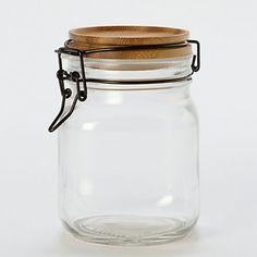 Acacia Wood Mason Jar, Large | Terrain $48
