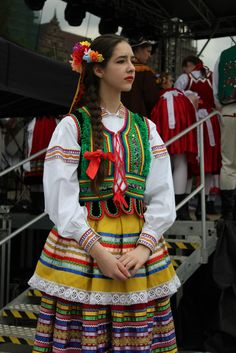 Regional costume from Lublin, Poland.