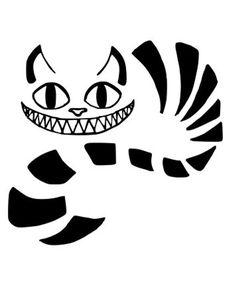 Cheshire Cat Drawing, Cheshire Cat Tattoo, Cheshire Cat Smile, Cheshire Cat Alice In Wonderland, Chesire Cat, Stencil Art, Stencils, Wonderland Tattoo, Wonderland Party