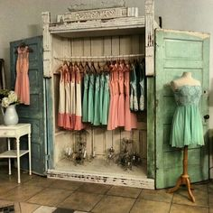 Amazing closet!Jaw dropped!  Via Facebook - Vintage Soul Store  I think this is from my friends store,  Debbie at Vintage Soul.  She just opened a new store.  This is amazing.  Does anyone know where this store is?, and who's it is?