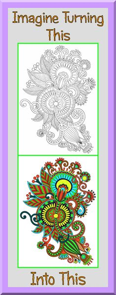 Paisley Coloring Book - 24 Printable Coloring Pages, Outlines, Color ...