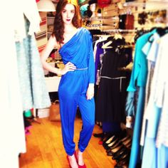 80's royal blue playsuit!