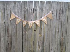 Handmade hessian buntings made to order  $20 for one this size.