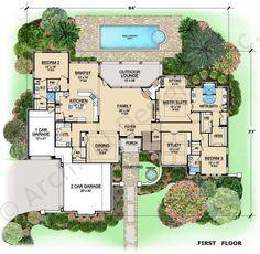 Wiesbaden House Plan - First Floor Plan