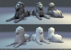 model Lion Statue Low Poly, available in OBJ, TGA, animals cat feline, ready for animation and other projects Cartoon Lion, Low Poly 3d Models, 3d Projects, 3d Animation, Lion Sculpture, Statue, Vr, Cats, Animals