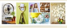 LOVE these ideas, especially the bicycle wheel for pictures.  So cute!