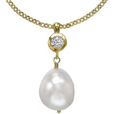 Dower & Hall 18ct Gold Vermeil White Baroque Pearl Pendant, Gold ($205) ❤ liked on Polyvore featuring jewelry, pendants, white pendant, white gold jewellery, pendant jewelry, 18 karat gold pendants and gold jewellery