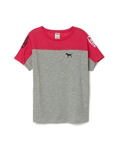 Boyfriend Crewneck Tee PINK LP-337-373 neon red (3RB)