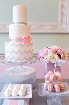 gray and silver cake by The Sugared Saffron Cake Company