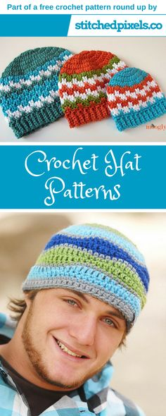 Free crochet hat pattern round up! I hope you find a pattern here that you like, and if you have any ideas for future round ups, let me know in the comments below! Just click on the picture, or the link below it to be taken to the written pattern for each sweater.