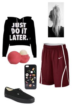 """Untitled #335"" by fangirlmuch on Polyvore featuring NIKE, Vans and Eos"