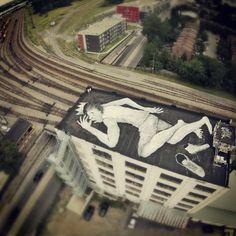 Ella & Pitr (France), rooftop 'mural', Ontario x Moreau [