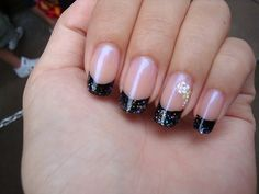 French manicure with white tip guides : French Manicure With Back Tips