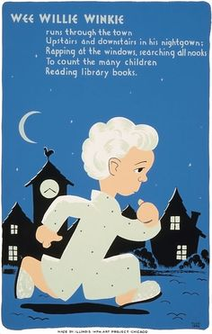 Created by the Illinois WPA Art Project to promote the use of libraries by children. The poster was illustrated by Cleo Sara, c. 1940.