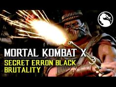 Mortal Kombat X How to perform Erron Blacks secret Xray Brutality, Must preform 3 command grabs during the match and finish with his Xray (Thanx to BlewDew f. Mortal Kombat X, Gaming, Movies, Movie Posters, Black, Videogames, Film Poster, Black People, Films