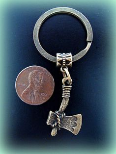 INDIAN style TOMAHAWK KEYCHAIN Jewelry by BetsyStoinoffDesigns