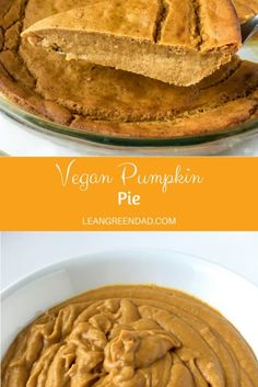 This vegan pumpkin pie is the perfect dessert to finish your meal. So good and satisfying, that you'll forget that it's nutritious too! Healthy Vegan Desserts, Vegan Dessert Recipes, Vegan Snacks, Vegan Recipes Easy, Yummy Snacks, Delicious Desserts, Vegan Meals, Vegan Food, Vegan Pumpkin Pie