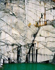 Vermont Geology: Rock of Ages # Abandoned Section, Adam-Pirie Quarry, Barre, Vermont, photo by edward burtynsky Le Vermont, Landscape Photography, Art Photography, Inspiring Photography, Formations Rocheuses, Rock Of Ages, Wow Art, Carrara, Magazine Design