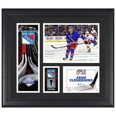 """Adam Clendening New York Rangers Fanatics Authentic Framed 15"""" x 17"""" Player Collage with a Piece of Game-Used Puck"""