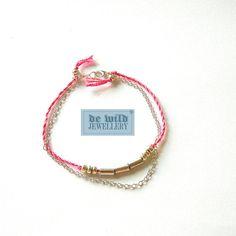Bracelet No. 043 SOS Bracelet with silverplated by dewildjewellery, $8.00