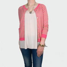 Jucca Button Back Detail Striped Cardigan at Foundation