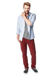 bold pants // #style #coloreddenim