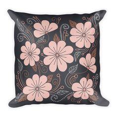 Decorative Pillow - Pillow - Pillow Cover - Throw Pillow - Accent Pillow - Pink Flowers Pillow