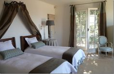 A two bed guest room at our favorite Provence house.