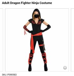 Adult Ninja @Party City for 39.99