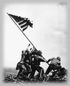 The Flag raising at Iwo Jima