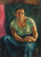 Merengö (A müvész felesége) 1924 Oil on Canvas 100 x 71,5 cm