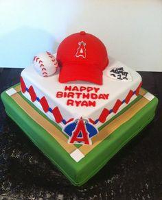 Angels Baseball Cake