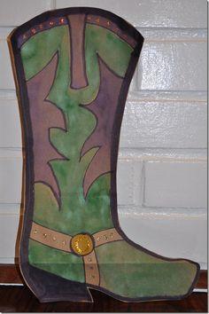 Brown Paper Bag Cowboy Boot Craft from www.TheSeasonedMom.com