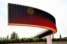 Escultura Cruz Diez Parque Juan Carlos I, Madrid