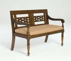 Handcrafted of Mahogany | Anglo-Indian Colonial Bench
