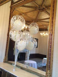 Gorgeous balloon inside balloon with tulle