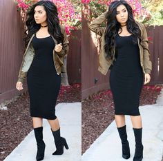@ItsMsMonica in HMS - Outfit available here: Dress: https://www.hotmiamistyles.com/SearchResults.asp?Search=21147&x=0&y=0 Jacket: https://www.hotmiamistyles.com/SearchResults.asp?Search=06124&x=0&y=0