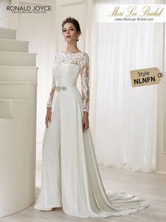 Elegant Spring Wedding pants dress Bridal Jumpsuit with detachable train Wedding Pantsuit, Wedding Attire, Wedding Gowns, Bridal Pants, Wedding Jumpsuit, Bridal Lace, Bridal Style, Bridal Outfits, Bridal Dresses