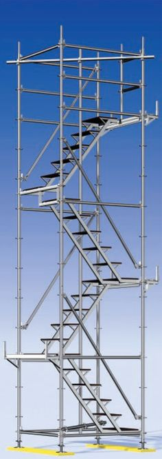 Convenient Ring Lock Scaffolding Stair Towers With Good